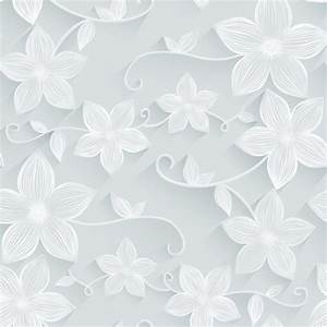 White flower seamless pattern vector material - Vector