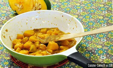 cuisine saine et bio recette bio au wok potiron courge au lait de coco et