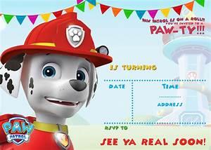FREE Printable Paw Patrol Birthday Invitation Ideas FREE