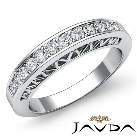 womens  wedding band  white gold pave set diamond