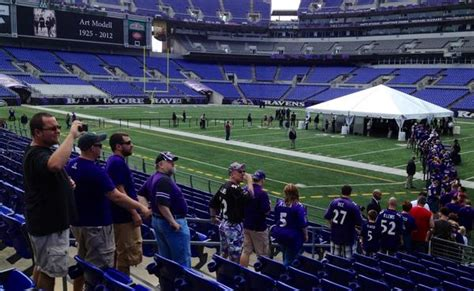 fan sun line t at modell memorial thousands of baltimore ravens fans