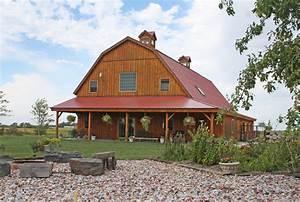 pole barn house plans Exterior Farmhouse with Barn home