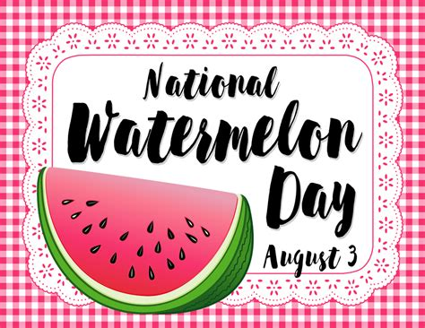 national watermelon day celebrated