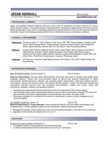 it systems administrator resume exles systems administrator resume template