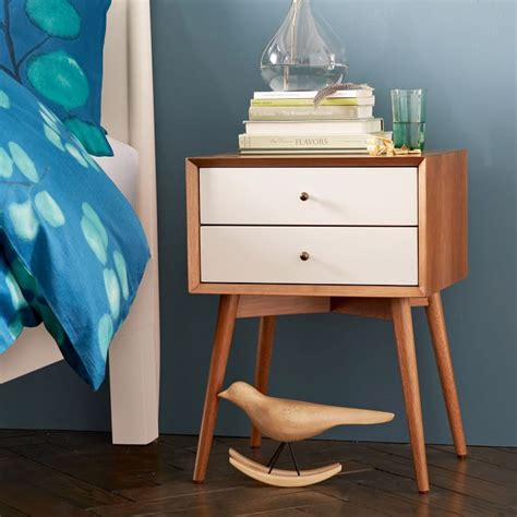 white mid century nightstand mid century nightstand white acorn remodelista