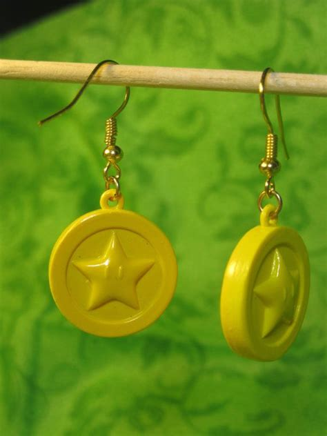 super mario earrings star coin earrings