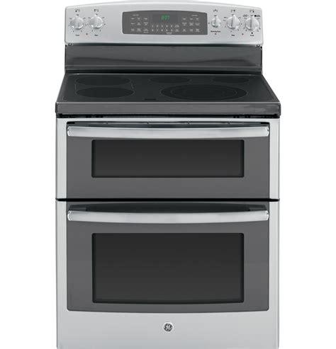 general electric jbsfss  freestanding electric range   cu ft double oven capacity