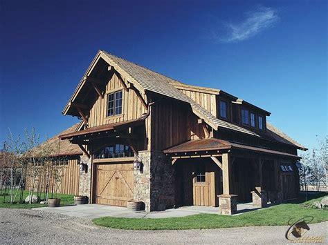 rustic lodge style custom horse barn  stalls  classic equine equipment barn apartment