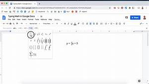 Typing Fractions In Google Docs