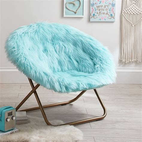 himalayan plume faux fur hang   chair  chair bedroom furniture design cool chairs
