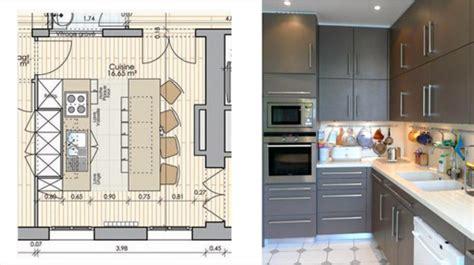 cuisine sur plan plan cuisine ouverte sur salle à manger cuisine en image
