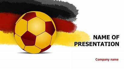 Powerpoint Soccer Template Germany Ball Presentation Theme