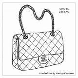 Bag Chanel Drawing Purse Handbag Designer Handbags Sketches Bags Sketch Coloring Drawings Pages Purses Illustration Disegno Cad Iconic Illustrations Borsa sketch template