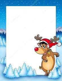 Christmas Reindeer Clip Art Borders and Frames