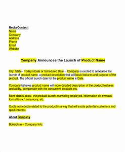 19 press release templates free sample example format for Product press release template