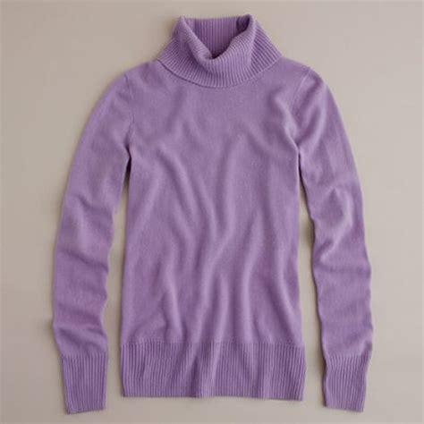 lilac sweater j crew turtleneck sweater in purple iced lilac