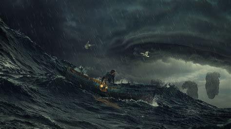 dark ocean storm wallpapers wide minionswallpaper