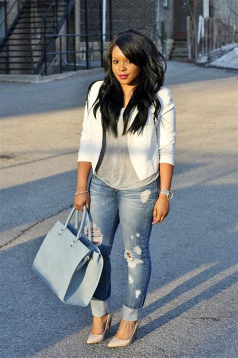 Plus Size Ripped Jeans Outfit | Date Night Outfit Ideas | Pinterest | Jean outfits Curvy and ...