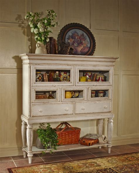 Antique White Sideboard by Wilshire Sideboard Cabinet Antique White Finish 4508