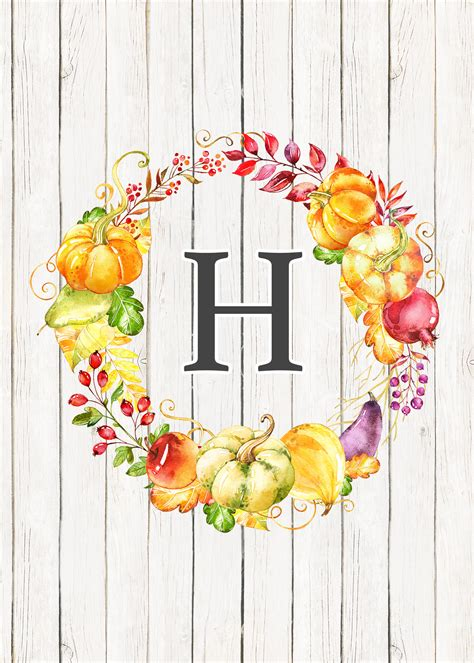 printable fall farmhouse monograms  cottage market
