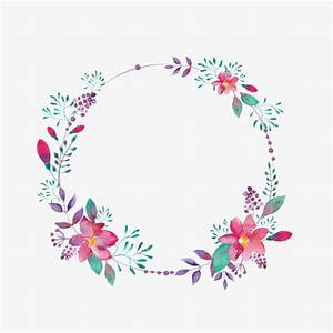 Purple Flower Borders, Creative, Hollow Circle, Flowers ...