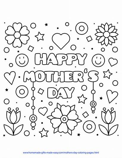 Coloring Happy Sheets Mothers Mother Printable Easy