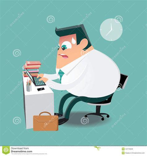 travailler dans un bureau travailler dur dans le bureau illustration de vecteur