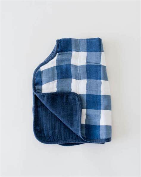 plaid coton canap unicorn cotton muslin burp cloth plaid