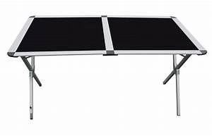 Table De Camping Leclerc : x table alu grand modele marrakech 140 cm table camping car couleur noire ~ Melissatoandfro.com Idées de Décoration
