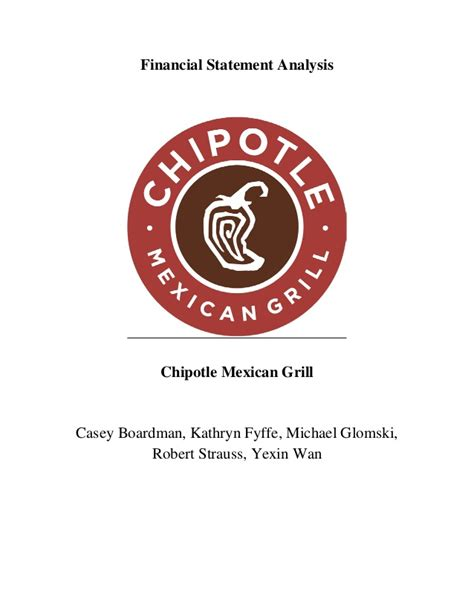 Boardman Chipotle by Chipotle Valuation Project Pdf