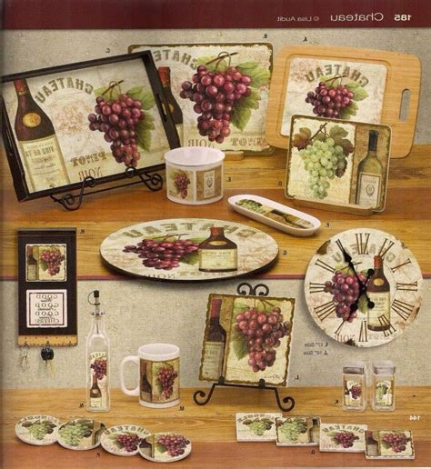 vineyard kitchen accessories grapes kitchen decor ideas kitchen decorating 3153