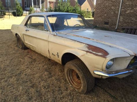 Barn Find 1968 Ford Mustang Coupe Project 289 3 Speed