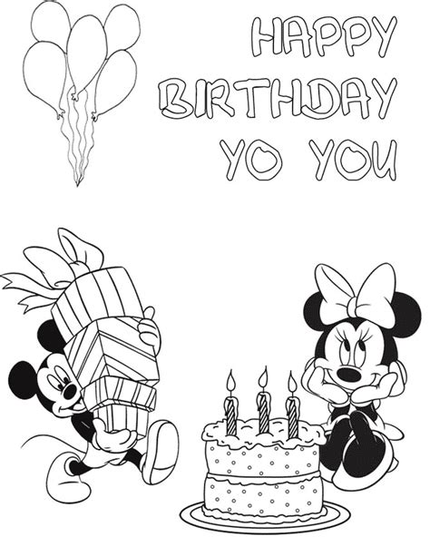 mickey  minnie birthday coloring page   coloring