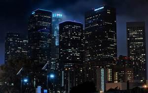 Los Angeles LA Buildings Skyscrapers Night r wallpaper ...