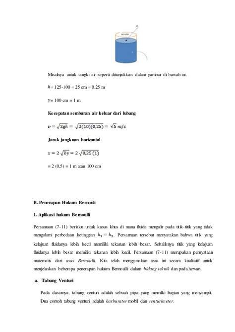 materi fluida dinamis kelas sma kurikulum