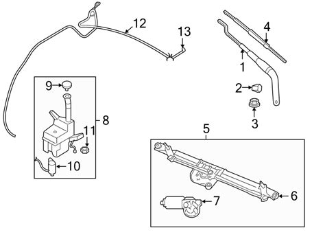 Ford Wiper Linkage Diagram by 8r3z17566a Ford Windshield Wiper Linkage Motor