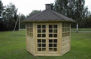 Grill Pavillon Holz : gartenpavillon gartenhaus mit grill und schornstein aus holz ~ Whattoseeinmadrid.com Haus und Dekorationen
