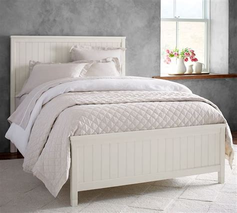 beadboard bed pottery barn