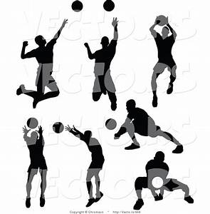 Volleyball Player Silhouette Clip Art (31+)