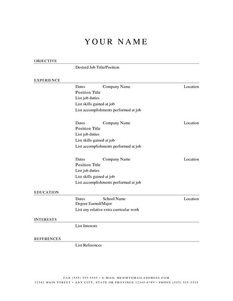 Chronological Resume Generator by Pin By Washington Artist On Business Resume
