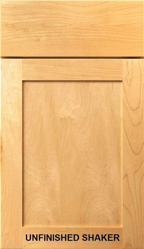 Unfinished Shaker Kitchen Bath Cabinet Doors Drawer Fronts