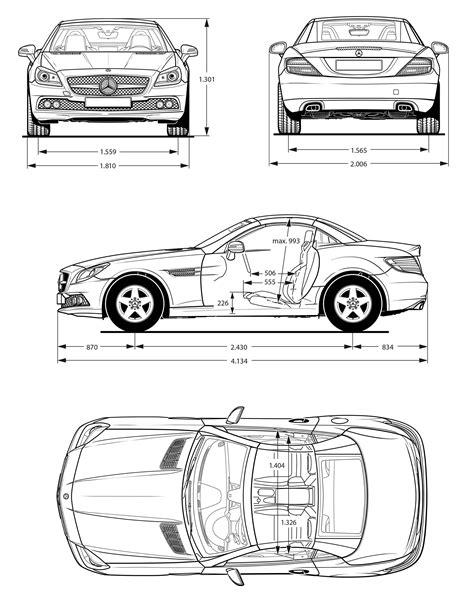 Mercedes-Benz SLK-Class R172 2011 Blueprint - Download