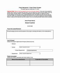 project charter template 10 free word pdf documents With project charter pmp template