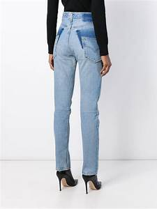 lyst vetements high waisted in blue