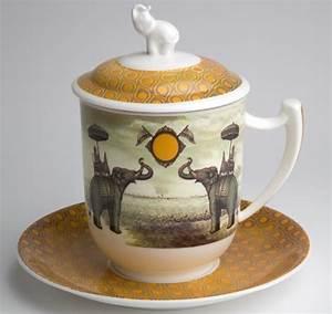 Teetassen Mit Deckel : tea 4 you teetasse mit sieb und deckel sepia elephant ~ Pilothousefishingboats.com Haus und Dekorationen
