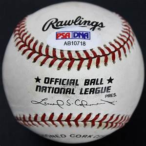 Neil Armstrong Authentic Signed ONL Coleman Baseball PSA ...