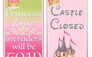 Girl Room Decor Princess Zone Door hanger for Kids door