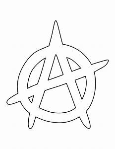 Anarchy symbol pattern. Use the printable outline for ...