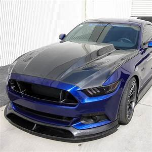 "2015-2017 Ford Mustang 3"" Cowl Carbon Fiber Hood by Anderson Composites - AC-HD1"