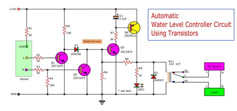 automatic water level controller circuit project